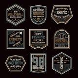 Set of sports badges Stock Photo
