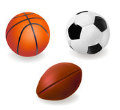 Set of sports balls. Stock Image