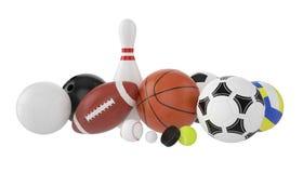 Set of sports balls. Royalty Free Stock Photo