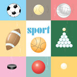 Set of sports balls Stock Photo