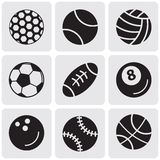 Set of sports balls Royalty Free Stock Images
