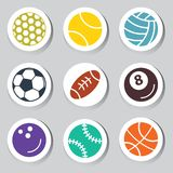 Set of sports balls Royalty Free Stock Photo