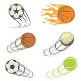 Set of sports balls. Vector illustration Royalty Free Stock Photo