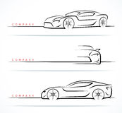 Set of sports car silhouettes. Vector illustration Stock Photography