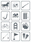 Set of sports equipment icons Royalty Free Stock Photo