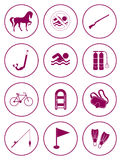 Set of sports equipment icons Royalty Free Stock Photos