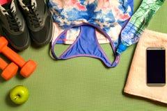 Set of sports equipment Royalty Free Stock Photo