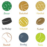Set of  sports equipments. Stock Photography