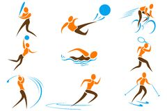 Set of Sports Icon Stock Photos