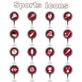 Set of sports icons Stock Photos