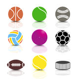 Set of sports icons, vector illustration. Royalty Free Stock Photo