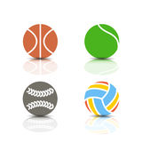 Set of sports icons, vector illustration. Royalty Free Stock Photos