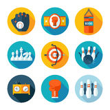 Set of sports icons. Royalty Free Stock Photography