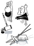 Set of sports illustration. Stock Images