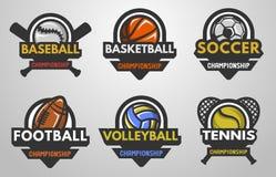 Set of sports logos Royalty Free Stock Photos