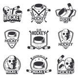 Set of sports logos for hockey. Royalty Free Stock Image
