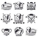 Set of sports logos for hockey. Royalty Free Stock Photo