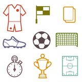 Set of sports soccer football symbols Stock Photography