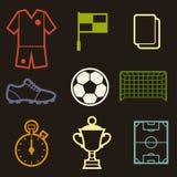 Set of sports soccer football symbols Royalty Free Stock Photography