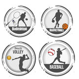 Set of sports stamps Stock Images