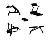 Set of Sports Trainer. Simulator.  Vector Stock Photography