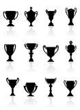 Set of sports trophies Royalty Free Stock Photos