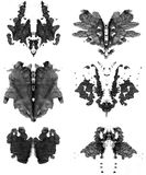 Set of spots of Rorschach. Black colored stock illustration