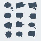 Set Spracheluftblasen Stockfotos