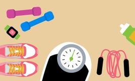 Set sprawności fizycznych narzędzia ilustracji