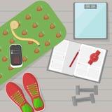Set sprawności fizycznych narzędzia royalty ilustracja
