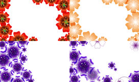 Set of Spring background for the design flowers. Stock Photo