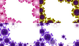 Set of Spring background for the design flowers. Stock Images