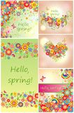 Set of spring backgrounds Royalty Free Stock Image
