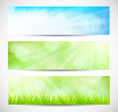 Set of spring banners Stock Image