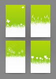 Set of 240 x 400 spring banners. Set of 240 x 400 green spring banners Royalty Free Stock Photography