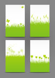 Set of 240 x 400 spring banners. Set of 240 x 400 green spring banners Royalty Free Stock Images