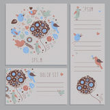Set of spring banners with hand drawn elements Royalty Free Stock Image