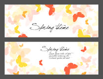 Set of spring butterfly illustrations Stock Images