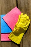Set for spring cleaning. stock photography
