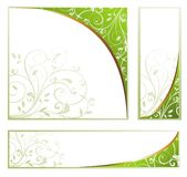 Set of spring floral banners Royalty Free Stock Photography