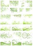Set of spring green design Stock Image