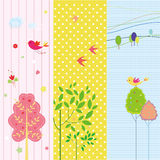 Set of spring and holiday banners Royalty Free Stock Photos