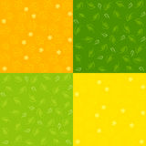Set of Spring Seamless Patterns Royalty Free Stock Photo