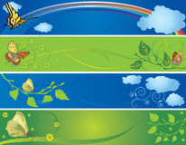 Set of spring and summer banners Stock Photo
