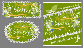 Set of spring and summer greeting cards Royalty Free Stock Photo