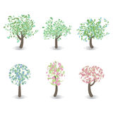 Set of spring tree Royalty Free Stock Images