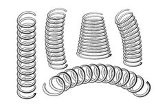 Set of springs Royalty Free Stock Image