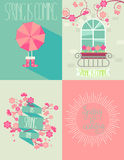 Set of springtime Royalty Free Stock Photography