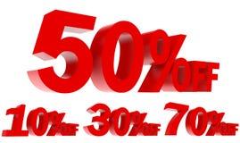 Set sprzedaży promocja Z 3d teksta Fotografia Stock