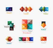 Set of square abstract background templates or infographics Stock Image